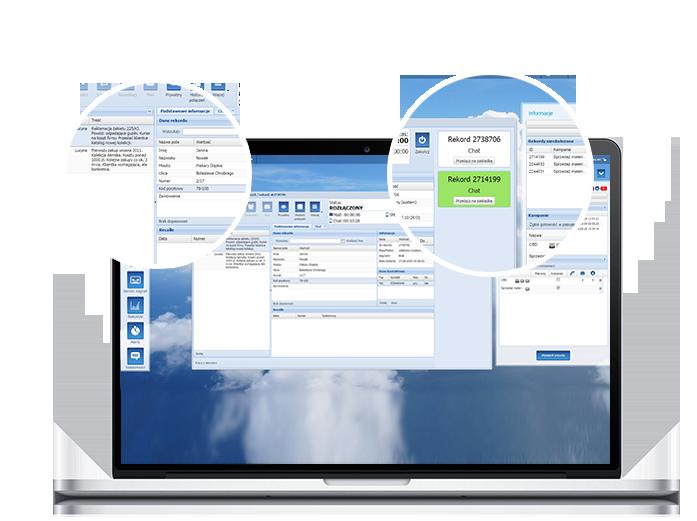 Zrzut ekranu pokazujący panel dla konsultanta obsługującego chat