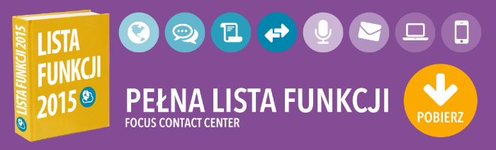 Pełna lista funkcji Contact Center do wielokanałowej komunikacji z klientem